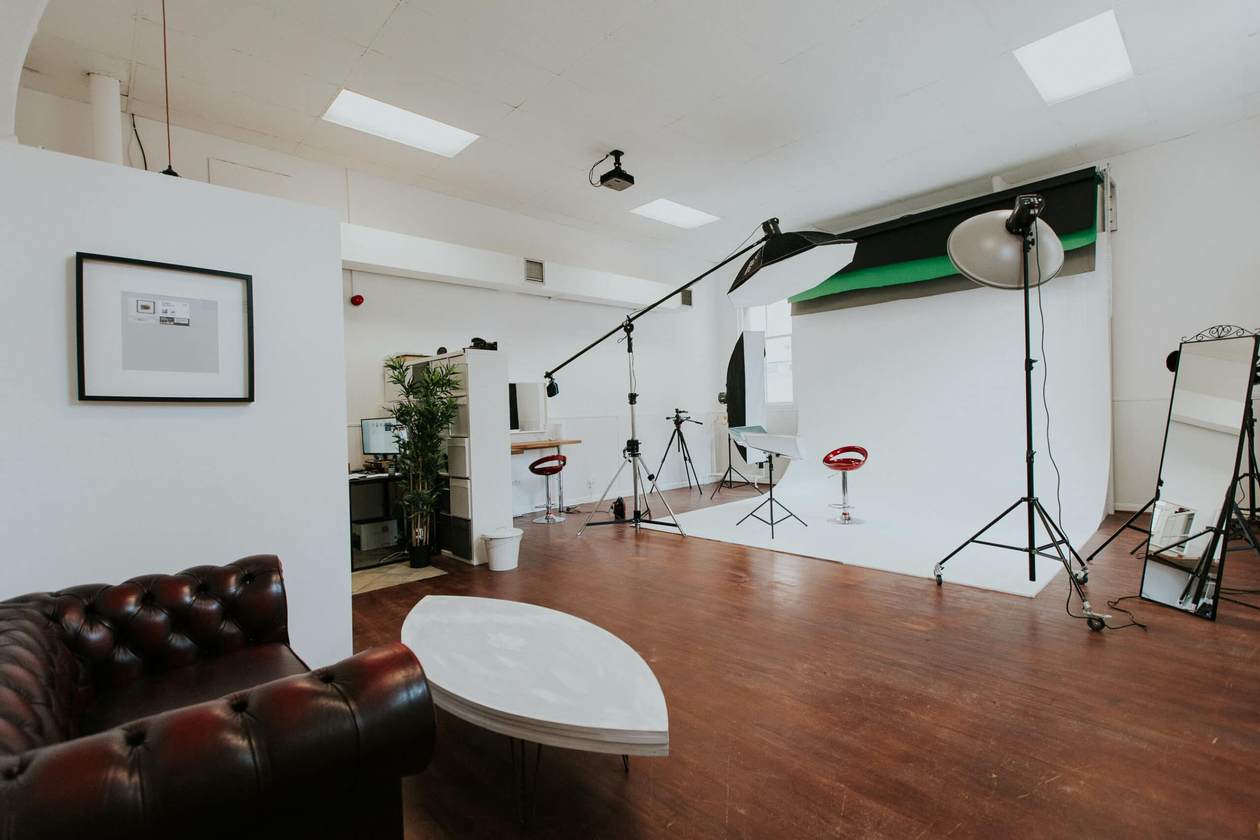 Studio space with lights for hire